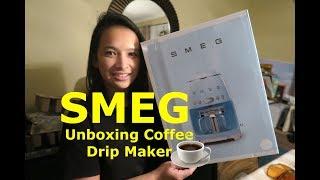 Unboxing Smeg coffee drip make…