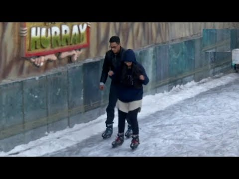 Artificial ice skating rink uplifts spirits of tourists in Shimla