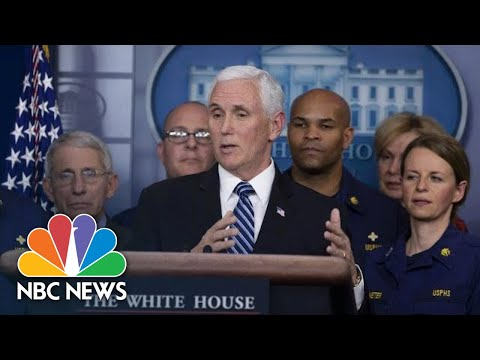 White House Coronavirus Task Force Holds News Conference | NBC News (Live Stream Recording)