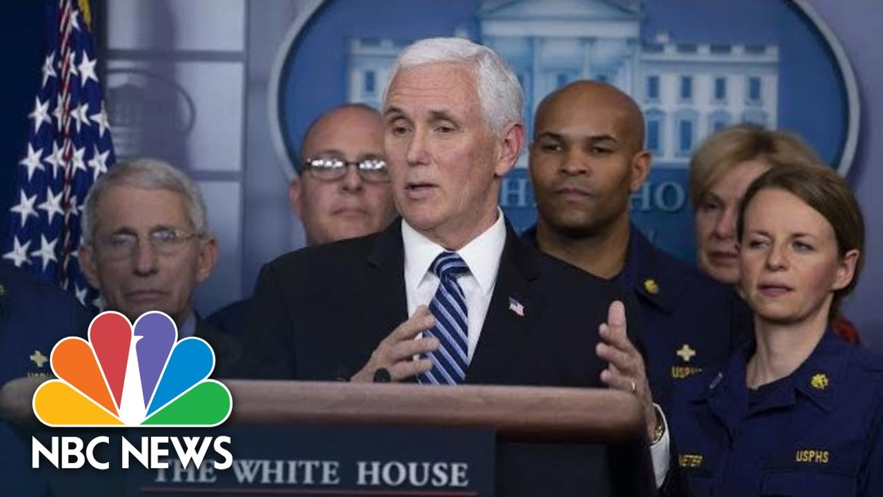 Special Report: White House Coronavirus Task Force Holds News Conference | NBC News (Live Stream)