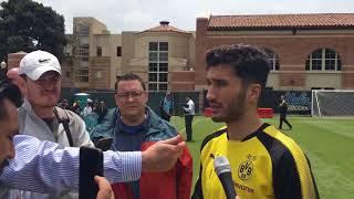 Gambar cover Nuri Şahin'in Dortmund'un ABD kampında Önce ingilizce, sonra ispanyolca röportaj vermesi
