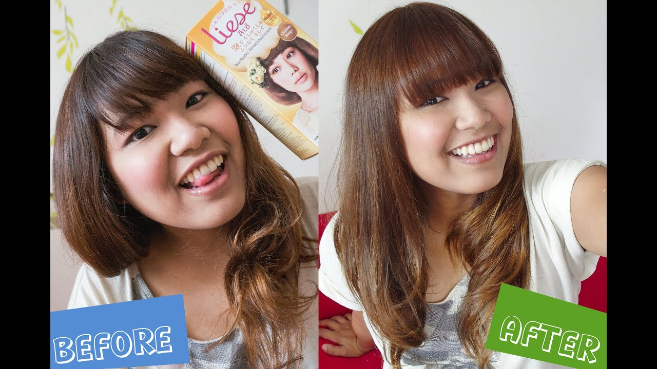 Review How To Liese Bubble Hair Color Chiffon Beige Youtube