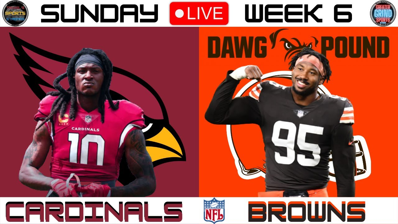 How to watch, stream, listen to Cardinals-Browns in Week 6