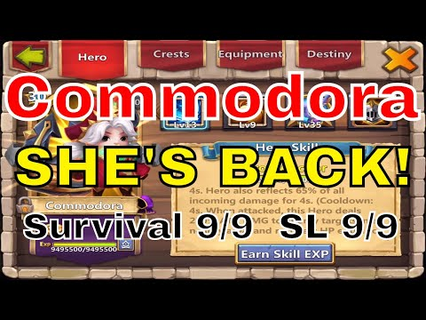 Castle Clash Commodora Returns! Sacred Light 9 Survival 9