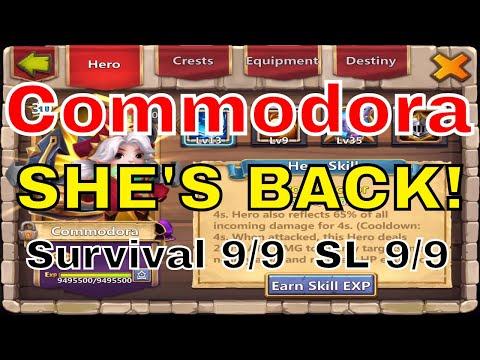 Castle Clash Commodora Returns! Sacred Light 9 Survival 9