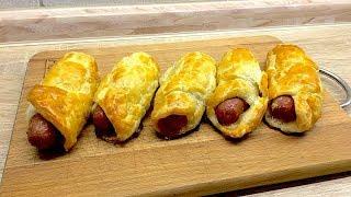 Быстрые сосиски в тесте.  Легкие рецепты  #супербатя на кухне
