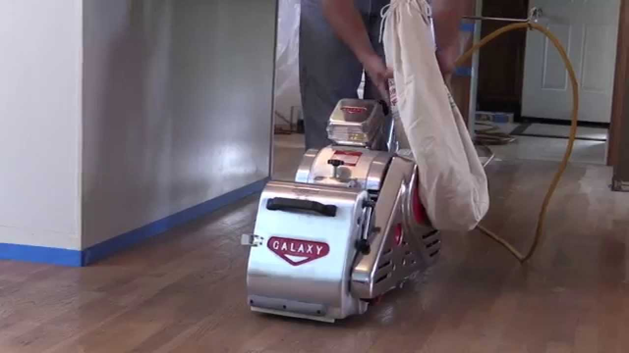 Sanding A Hardwood Floor With The Galaxy Omega 8   YouTube