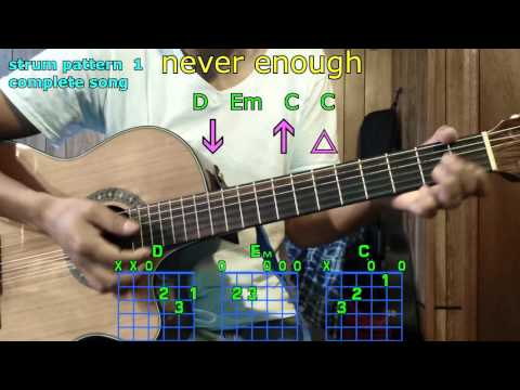 never enough one direction guitar chords