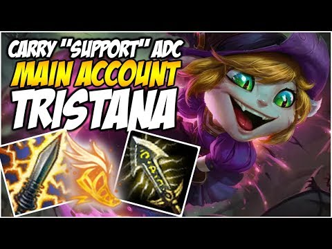 """CARRY """"SUPPORT"""" TRISTANA ADC! - Climb to Master S8 