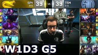 TSM vs SPY - Worlds 2016 Week 1 Day 3 Group D | LoL S6 World Championship TSM vs Splyce G1 Worlds