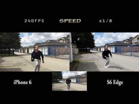 S6 edge vs iphone 6 the ultimate slow motion battle split screen
