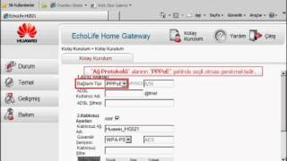Huawei Echolife HG521 Adsl Modem Kurulumu