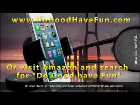 Top 5 Reasons To Drive Hands Free With The Do Good Have Fun iPhone 5 Car Mount, Get one now!