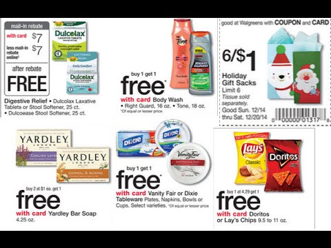 Walgreens Sales Coupons 12 14 14 Youtube