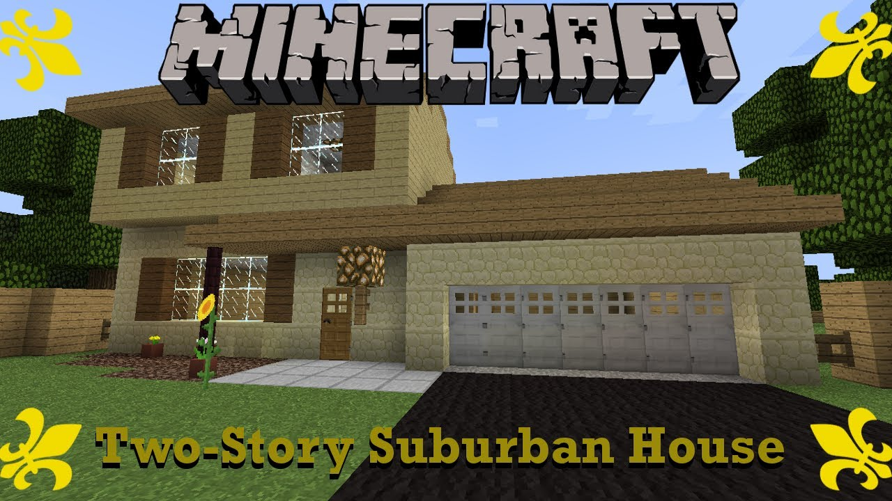 minecraft two story suburban house walkthrough suburbcraft ep 4 minecraft two story suburban house walkthrough suburbcraft ep 4 youtube