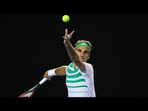 Roger Federer v David Goffin highlights (4R)   Australian Open 2016