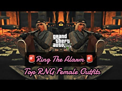 "MY TOP FEMALE RNG OUTFITS ""RING THE ALARM""- GTA V ONLINE"
