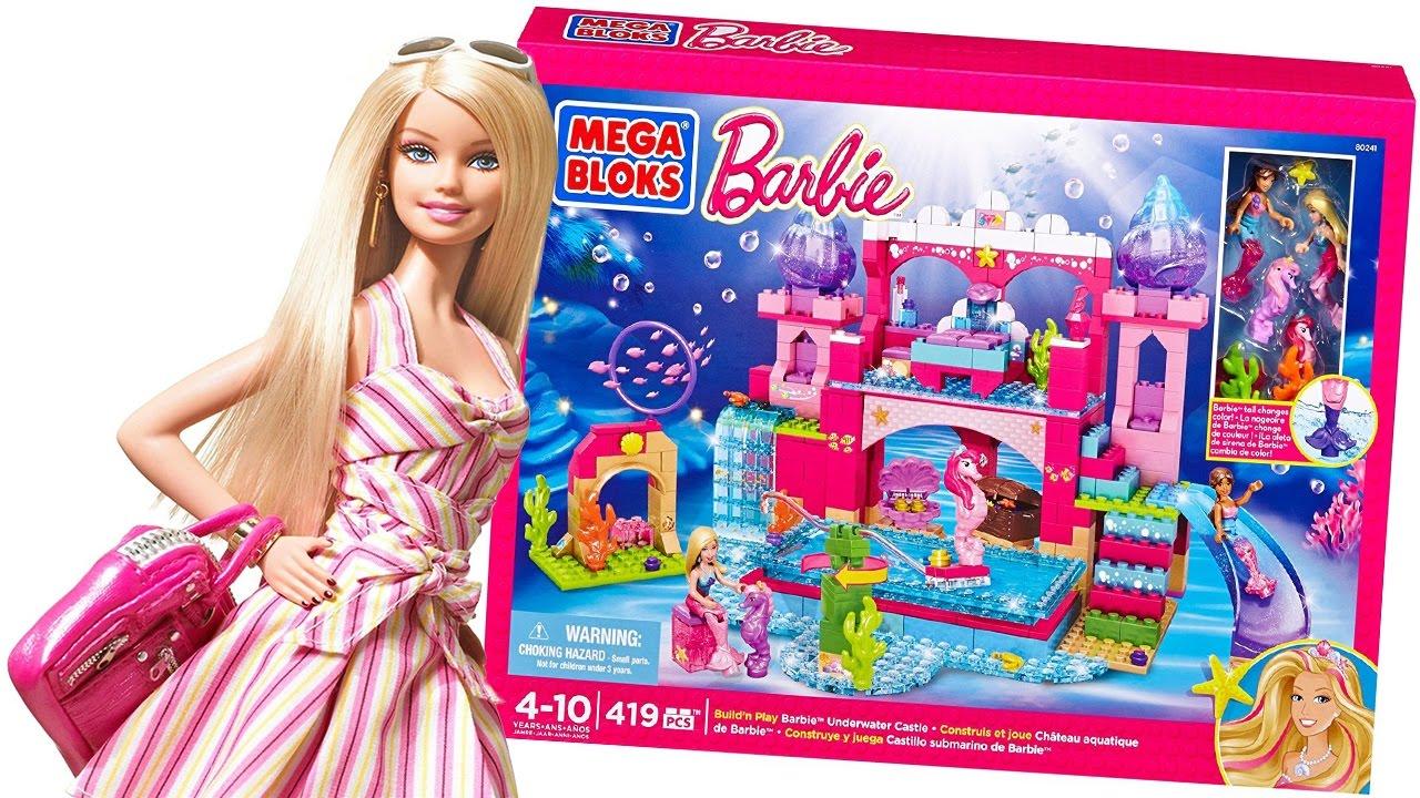 BARBIE Italiano  Costruiamo il Castello sottomarino di Barbie Mega Bloks Gioco per Bambini