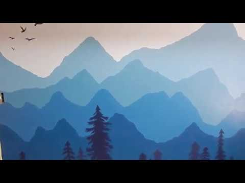 DIY Mountain Mural For Baby's Room!
