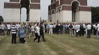 Thiepval ceremony - 1st July 2010