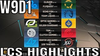 LCS Highlights ALL GAMES Week 9 Day 1 Spring 2019 League of Legends NALCS