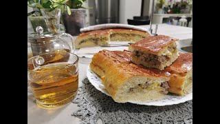 Картофельно-мясной пирог и кормушки для птиц