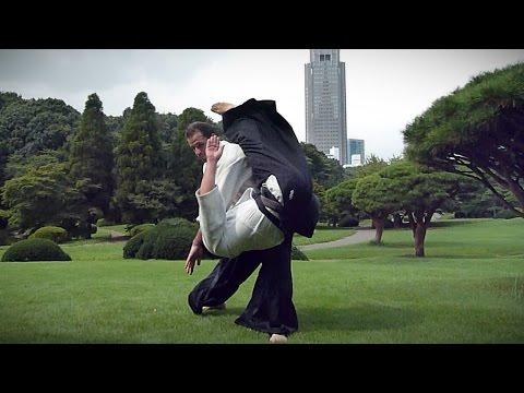 Aikido - Guillaume Erard in Shinjuku Gyoen (July 2013)