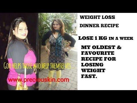 WEIGHT LOSS DINNER RECIPE | Lose healthy 1 kg in a week | Glowing Skin Recipe | Priyanka George |