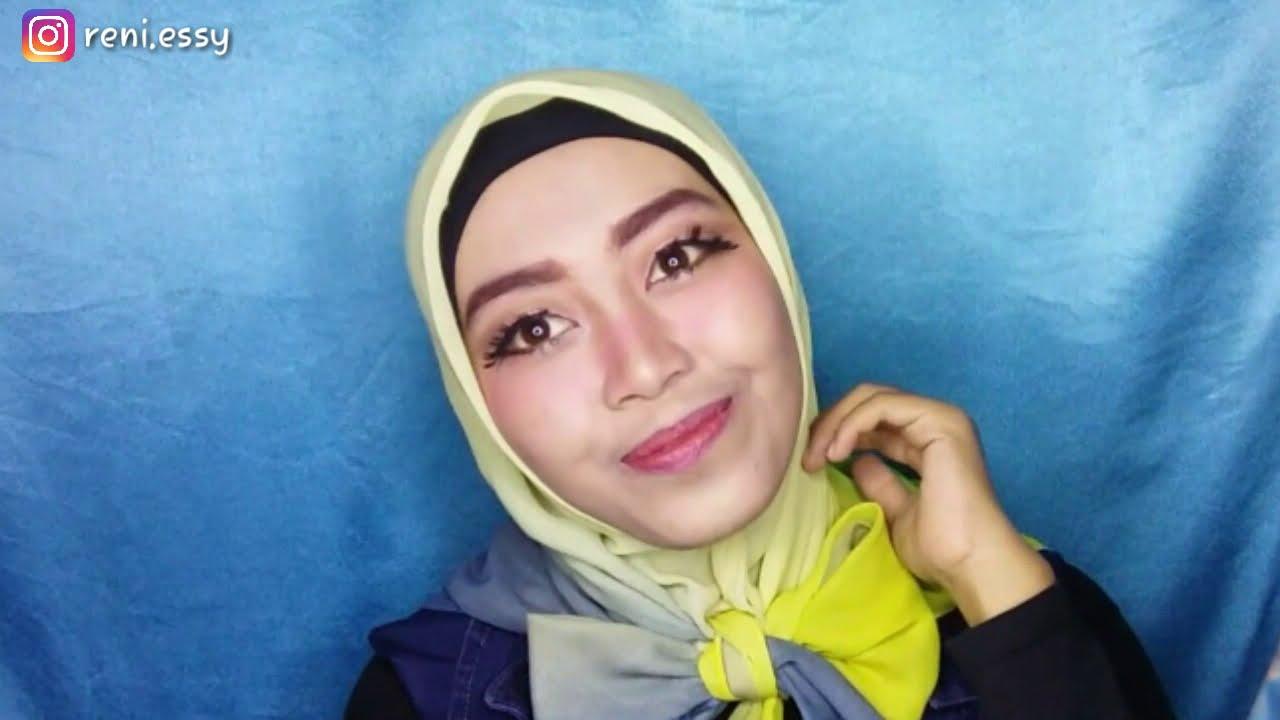 Tutorial Hijab Segiempat Pita Kupu Kupu Simple YouTube