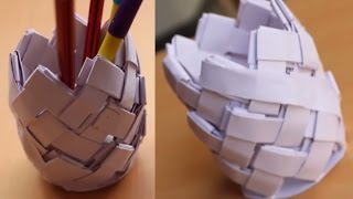 DIY - Paper Pen Stand | How to make Pen Stand | Paper Pencil Stand