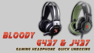 Bloody Glare J437 & G437 Gaming Headset UnBoxing (Best Budget 7.1 Gaming Headphone)