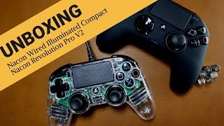 Nacon Revolution Pro V2 & Wired Illuminated Compact Controllers | Unboxing