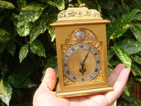 Antique Vintage Old Smith  Timepiece Mantle  Clock Carriage Clock   See Video