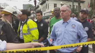 Gov Edwards: 1 dead, 18 hurt after Hard Rock Hotel collapses on Canal Street