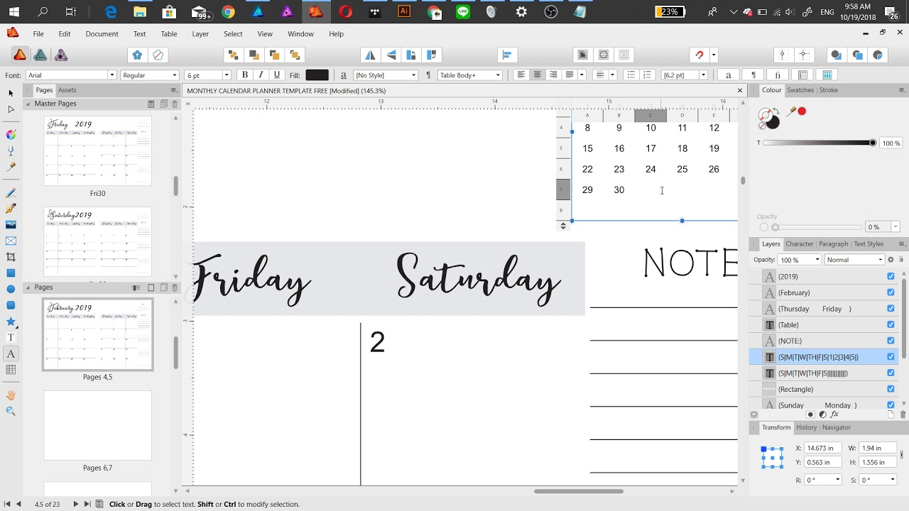 Monthly Planner Template For Kdp Print Youtube