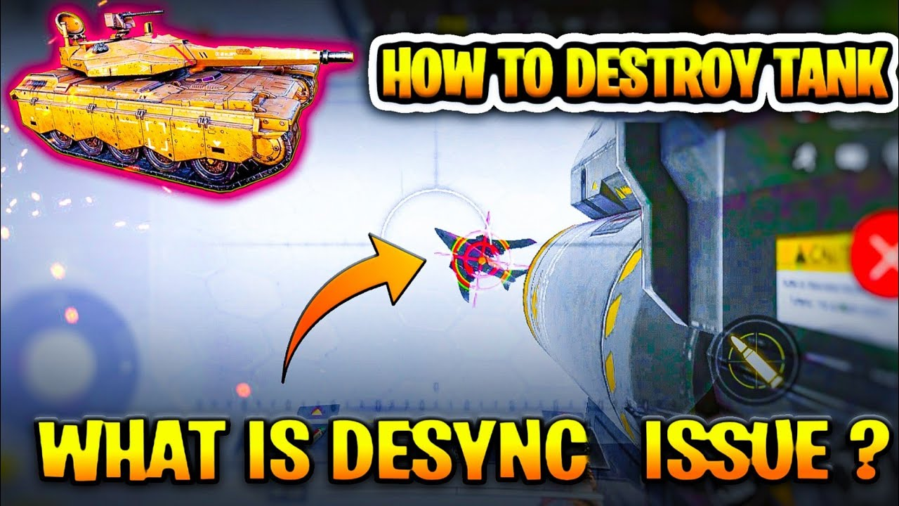 what is Desync issue in cod mobile | cod mobile season 8 | how to Destroy tank in cod mobile |hindi