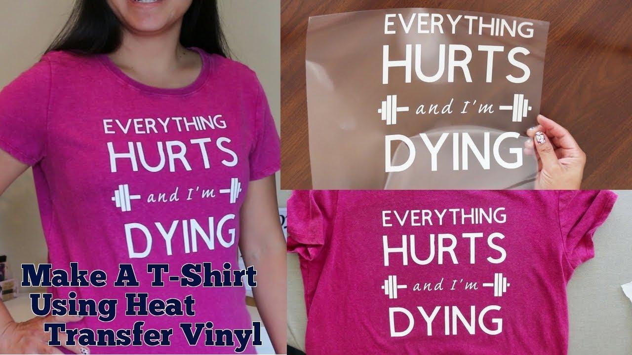 How To Put Heat Transfer Vinyl Htv On T Shirt Diy Make Your