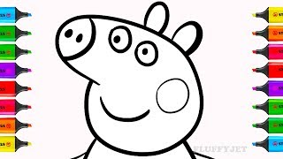 How to Draw Peppa Pig and Microwave Appliance | Toy Microwave Coloring Book Game & Play-Doh For Kids