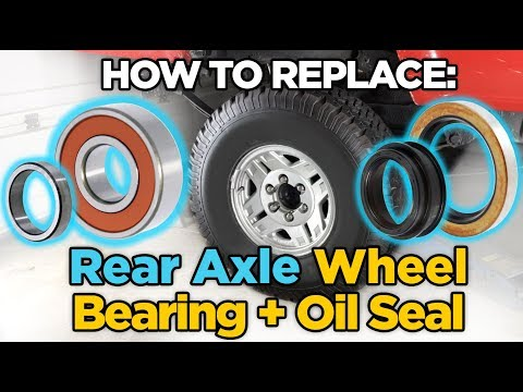 Install Toyota Rear Axle Bearing, Oil Seal - WITHOUT a Press!