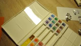 Розпакування акварельних фарб ''Білі ночі''
