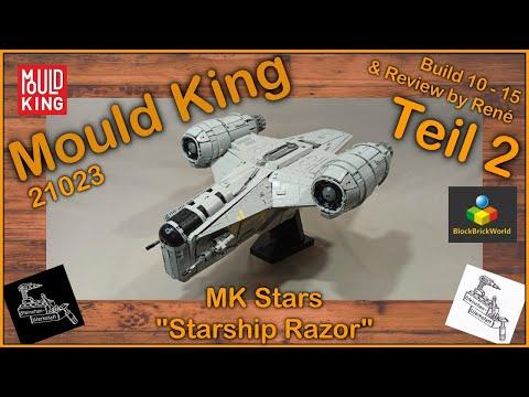 Über 5000 Teile Bauspass bei Razor Starship von Mould King 21023   Teil 2 & Review   Blockbrickworld