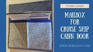 How to Make a Magnetic Mailbox for Cruise Ship Cabin Door