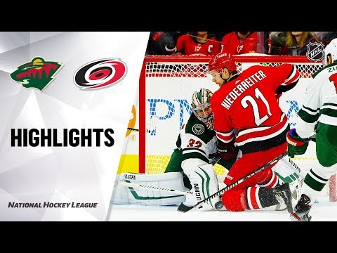 NHL Highlights   Wild @ Hurricanes 12/07/19