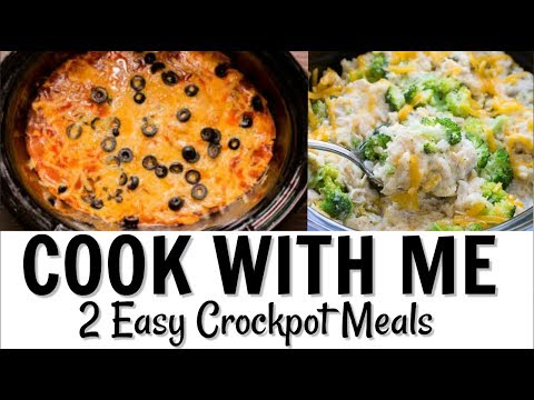 COOK WITH ME // 2 EASY CROCK POT MEALS // CHICKEN RECIPES