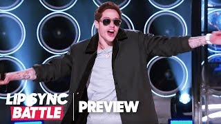 """An Embarrassed Pete Davidson Performs Justin Bieber's """"One Time""""   Lip Sync Battle Preview"""