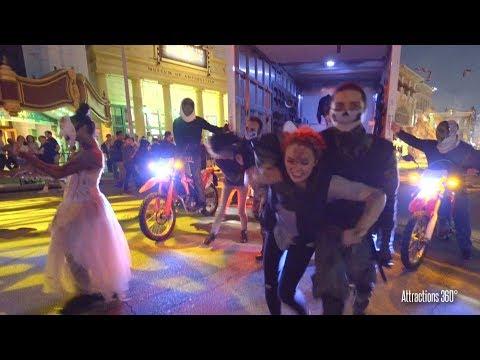 [4K] The Purge Mini-show Scare Zone - Halloween Horror Nights Orlando 2017
