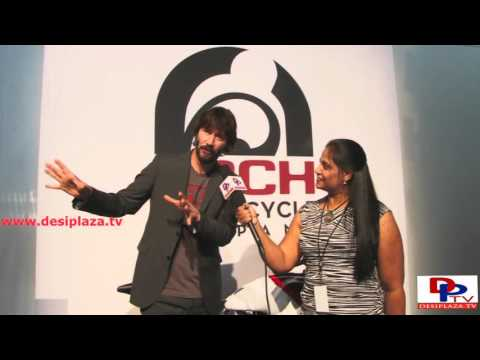 Famous Hollywood Actor Keanu Reeves speaking to Desiplaza TV in dallas