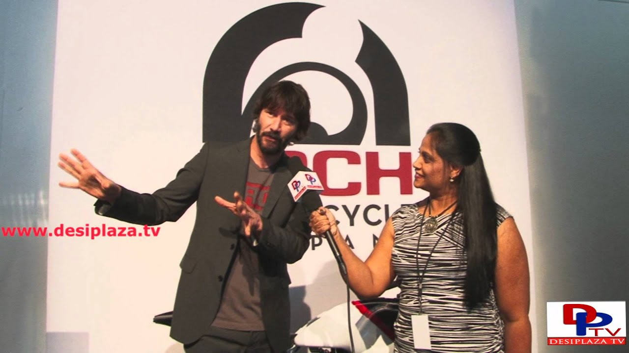 Famous Hollywood Actor Keanu Reeves speaking to Desiplaza TV.