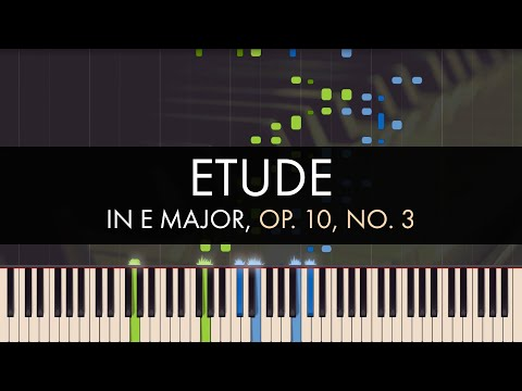 Frédéric Chopin  Etude in E Major, Op 10, No 3 Synthesia