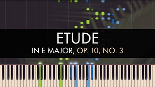 Frédéric Chopin - Etude in E Major, Op. 10, No. 3 (Synthesia)